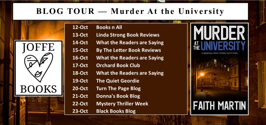 BLOG TOUR BANNER - Murder at the University