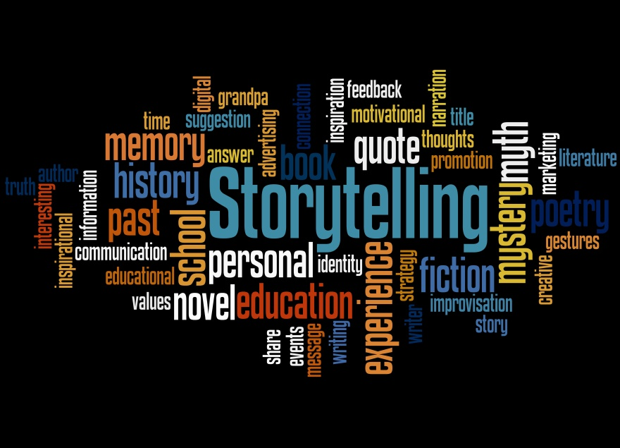 Storytelling , word cloud concept 6