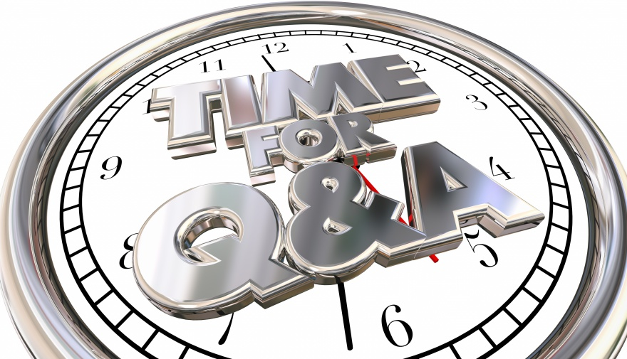 Time for Q and A Questions Answers Ask Information Clock 3d Word