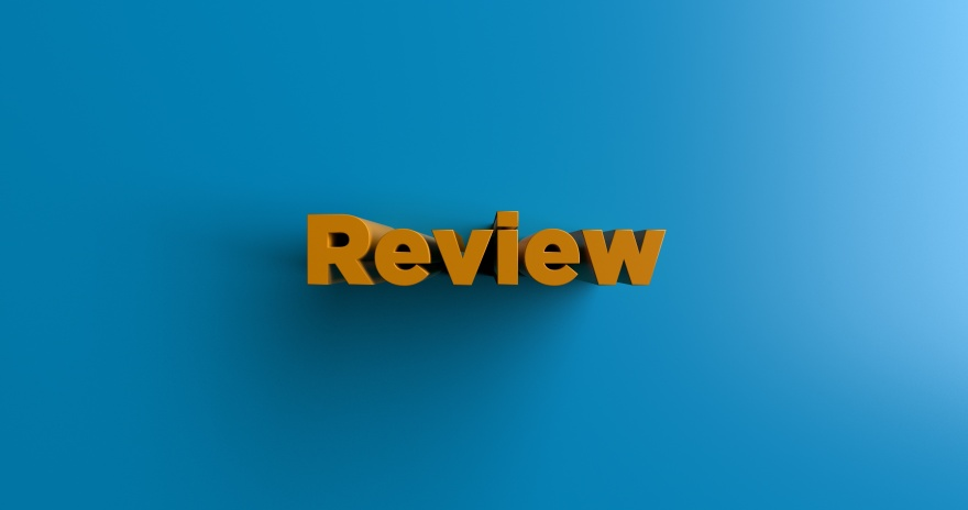 Review - 3d rendered headline