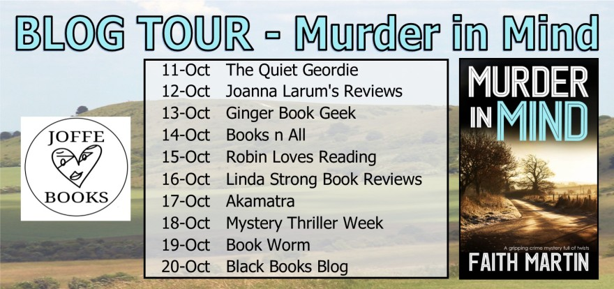 blog tour banner - Murder in mind